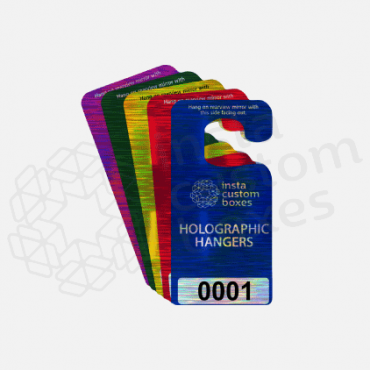 Custom Printed Holographic Hang Tags