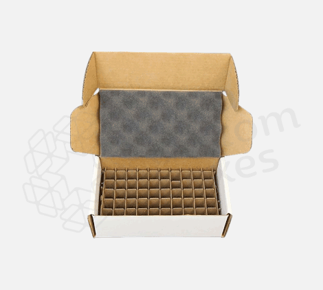 Custom-corrugated-mailer-box-with-dividers - custom packaging company in USA