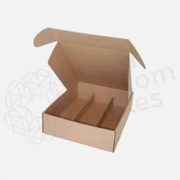 Custom-kraft-mailer-box-with-dividers - custom boxes packaging company
